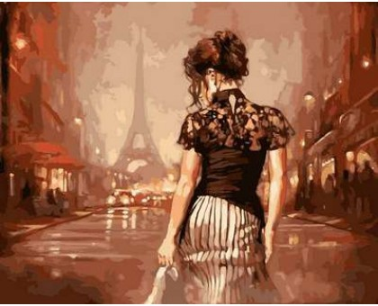 Картина по номерам Винтажный Париж