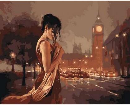 Картина по номерам Лондон в стиле ретро