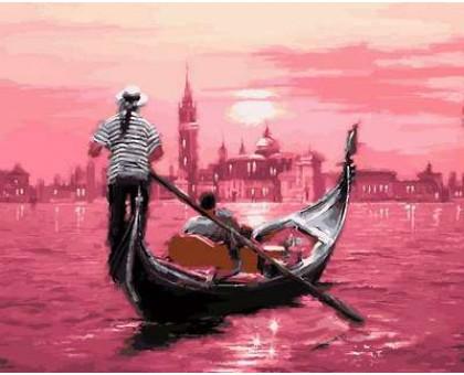 Картина по номерам Розовый закат Венеции
