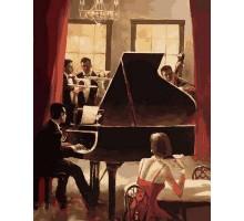 Картина по номерам Джаз на пианино