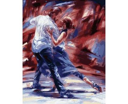 Картина по номерам Страсть в стиле танго