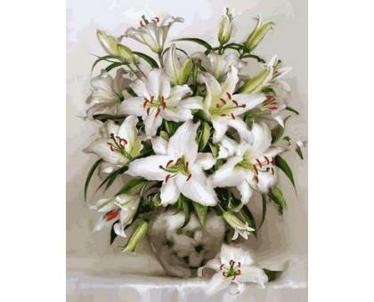 Картина по номерам Белоснежные лилии