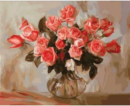 Картина по номерам Коралловые розы