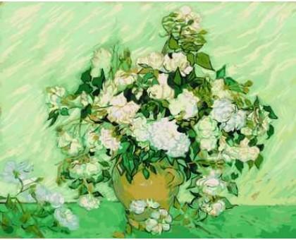 Картина по номерам Ваза с розами