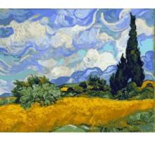 Картина по номерам Пшеничное поле с кипарисами