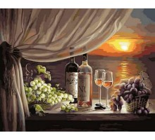 Картина по номерам Вино на закате