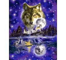 Картина по номерам Волчья луна