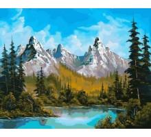 Картина по номерам Горное озеро