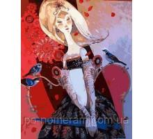 Картина по номерам Леди с зонтиком