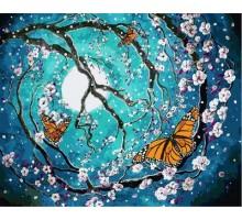 Картина по номерам Бабочки в лунном свете