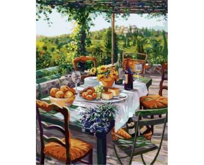 Картина по номерам Завтрак с сыром и вином