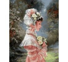 Картина по номерам Девушка в чепце с лентами