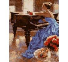 Картина по номерам Незнакомка у рояля