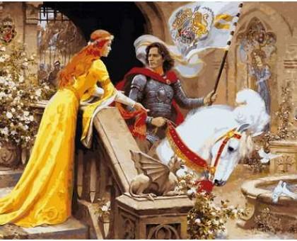 Картина по номерам Ланселот и Гвиневера