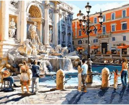 Картина по номерам Рим. Фонтан Треви