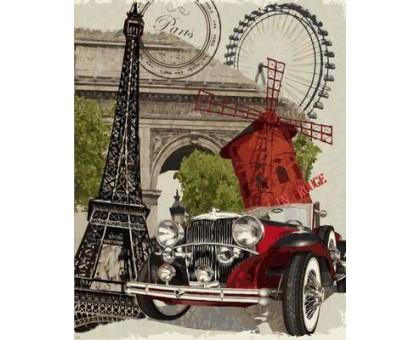 Картина по номерам Винтажная марка. Франция