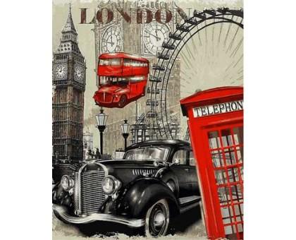 Картина по номерам Винтажная марка. Англия