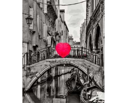 Картина по номерам Зонт в форме сердца