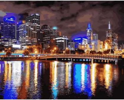 Картина по номерам Мельбурн. Ночная Австралия