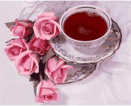 Картина по номерам Чай с суданской розой