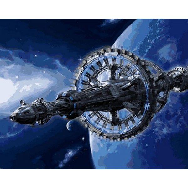 Картина по номерам Космическая станция