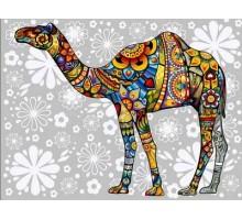 Картина по номерам Цветочный верблюд