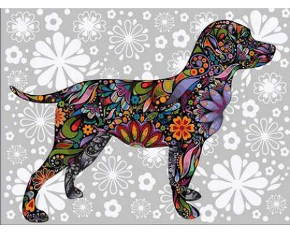Картина по номерам Цветочный пес