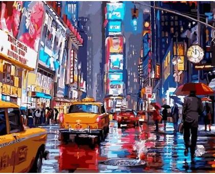 Раскраска по номерам Таймс-сквер. Нью-Йорк