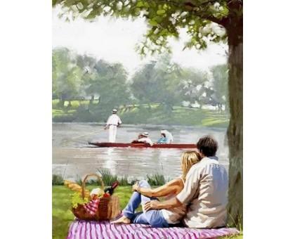 Картина по номерам Пикник на берегу реки