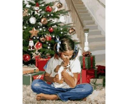 Картина по номерам Рождественский подарок