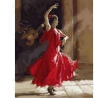 Картина по номерам Огненный фламенко