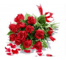 Картина по номерам Букет алых роз