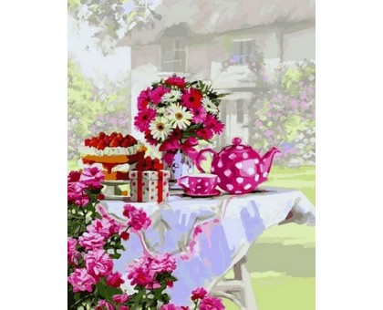 Картина по номерам Чаепитие в саду
