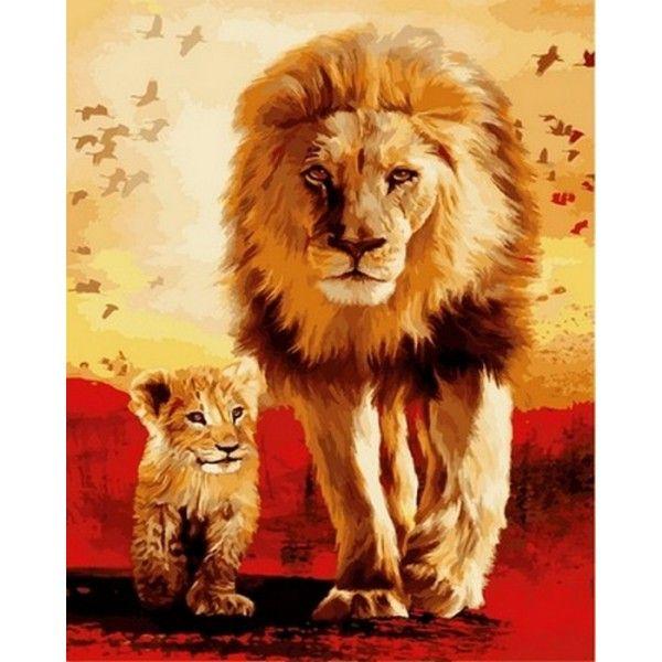 Картина по номерам Отец и сын
