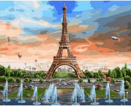 Картина по номерам Радуга над Парижем
