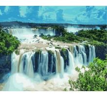 Картина по номерам Водопады Игуасу. Бразилия