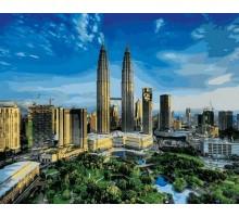 Картина по номерам Башни Петронас. Малайзия