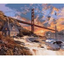 Картина по номерам Закат над Сан-Франциско