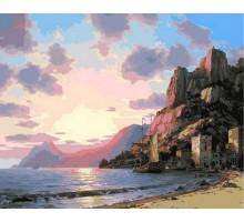 Картина по номерам Закат у моря