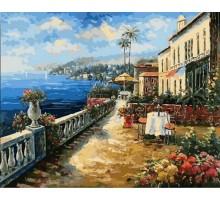 Картина по номерам Кафе с видом на море