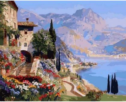 Картина по номерам Цветы на морском побережье