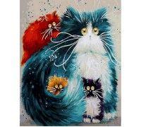 Картина по номерам Мама кошка