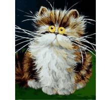 Картина по номерам Пушистый котенок