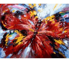 Картина по номерам Алая бабочка
