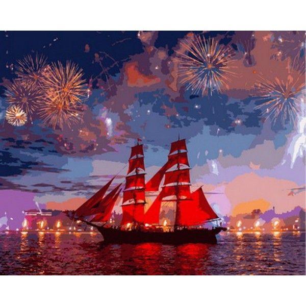 Картина по номерам Фестиваль Алые паруса