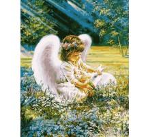 Картина по номерам Ангелочек с кроликом