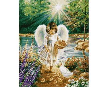 Картина по номерам Ангелочек и утята