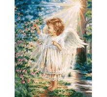 Картина по номерам Весенний ангелочек