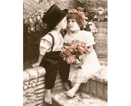 Картина по номерам Поцелуйчик