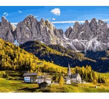 Картина по номерам Заснеженные Альпы